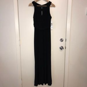 NWT TIANA B. Long Dress Black